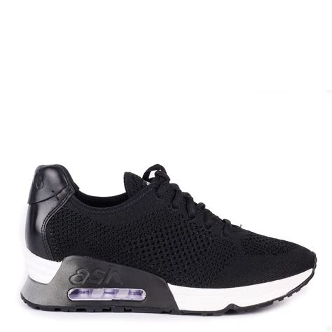 lucky black knit trainers from ash footwear are