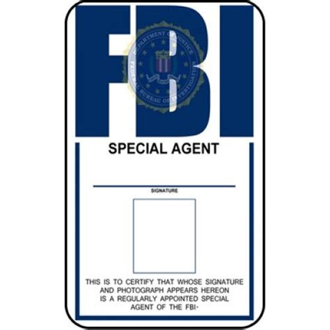 Nsa Id Card Template by Fbi Id Template Fbi Identification Card From The Identity
