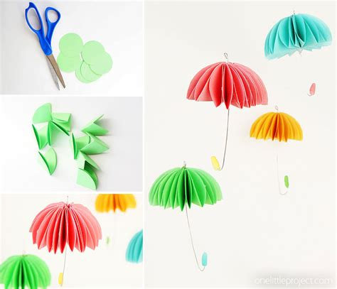 Make A Paper Umbrella - how to make paper umbrellas