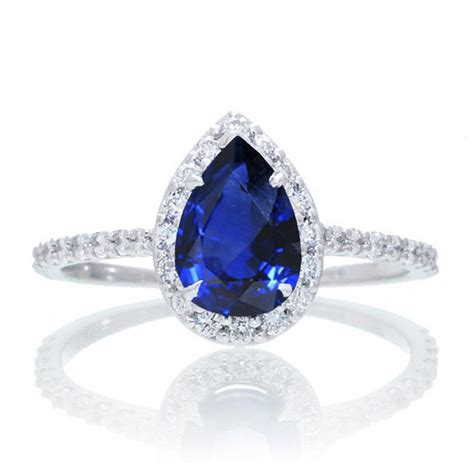 celebrity engagement rings sapphire 1 5 carat classic pear cut sapphire with diamond celebrity