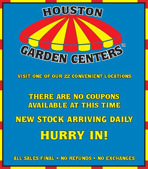 houston garden centers print  houston garden centers