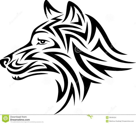 dog tribal stock vector image 39546424