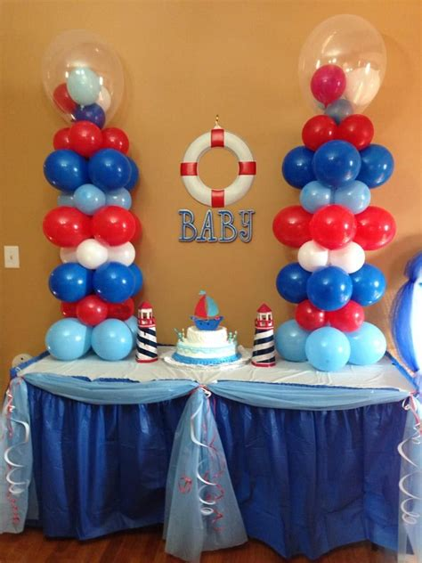 Sailor Themed Baby Shower Centerpieces by Best 20 Nautical Baby Shower Decorations Ideas On
