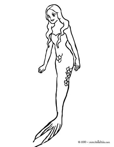 printable coloring page mermaids tail coloring pages