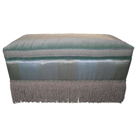 cotton ottoman ottoman cocktail table size in cotton silk blue and green