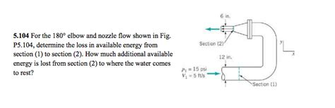 section 3 2 energy flow answers for the 180 degree elbow and nozzle flow shown in