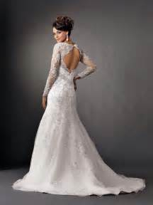 mermaid wedding dresses with sleevescherry