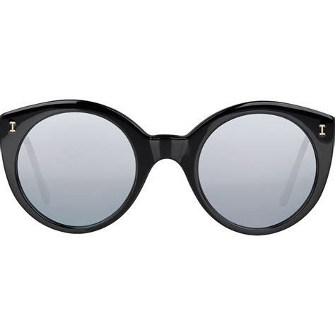 Mirrored Sunglasses lyst illesteva s palm mirrored sunglasses in
