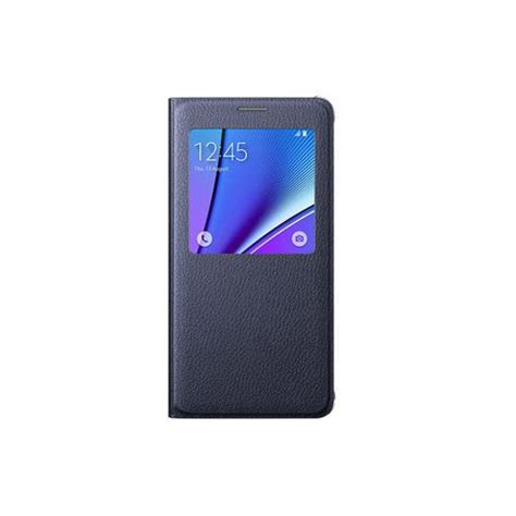 Flip Cover S View Samsung Galaxy Note5 Auto Lock Flipcover Samsung Galaxy Note 5 S View Flip Cover Blue Black