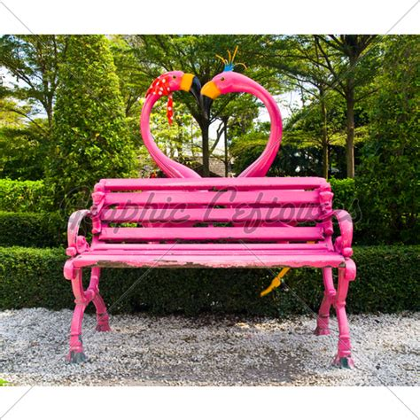 heart bench flamingo heart bench 183 gl stock images