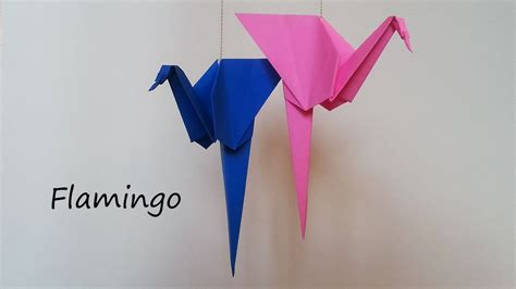 How To Make A Flamingo Out Of Paper - origami flamingo tutorial
