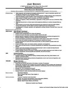 Resume Templates For Office by Free Resume Templates For Office Manager Free Sles