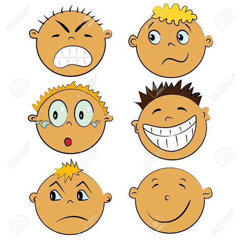 clipart emotions feelings clipart cartoon face pencil and in color