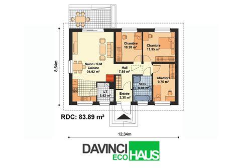 Plan Maison Plain Pied 100m2 4121 by Maison Plain Pied En Ossture Bois 233 Cologique