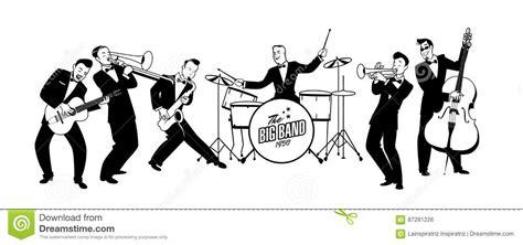 Is Swing A Type Of Jazz Jazz Swing Orchestra R 233 Tro Type Illustration De Dessin
