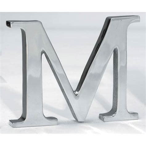 Silver Letters Home Decor Kindwer Silver Aluminum Letter M St Croix Trading Signs Wall Decor Home Decor