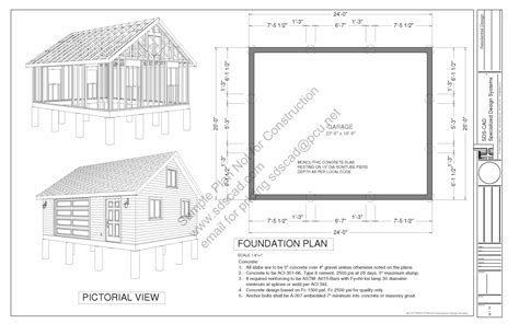 20 x 24 garage plans g448 24 x 20 x 8 free pdf garage plans blueprints construction documents sds plans