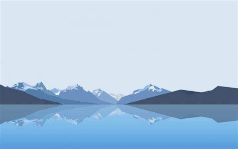 minimalist mountains lake mountain reflection minimalism wallpapers hd