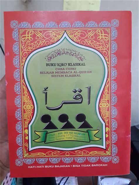 buku iqro klasikal  cepat belajar membaca al quran