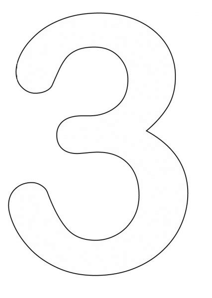 number 3 template coloring pages of number 3 427x600 number three coloring