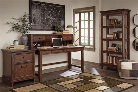 Home Office Desk Brown Woodboro Brown Home Office Desk H478 44