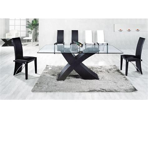 black glass dining table 6 chairs 187 gallery dining