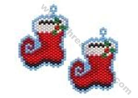 bead store santa santa boot earring bead pattern by threadabead