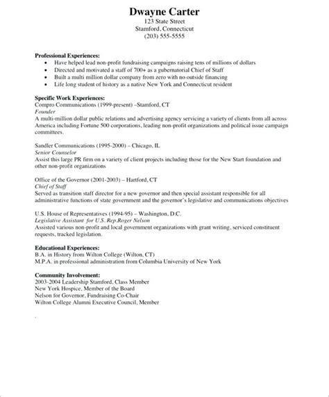 chief of staff resume resume ideas