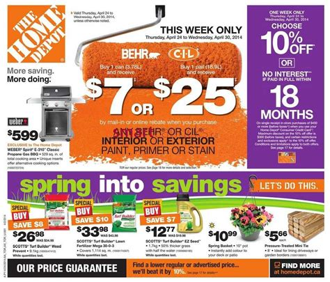 home depot weekly ad circular sales flyer autos post