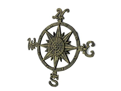 Wholesale Nautical Decor Suppliers by Buy Antique Gold Cast Iron Large Decorative Compass 19 Inch
