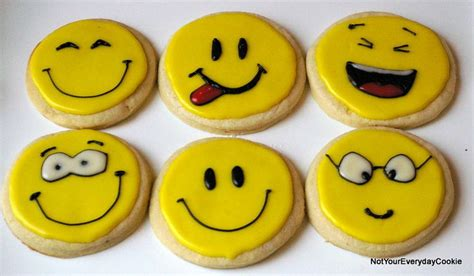 Smile Cookies smiley cookies silly decorated cookies