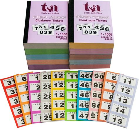 printable cloakroom tickets thomas and anca cloakroom raffle tickets numbers 1 1000