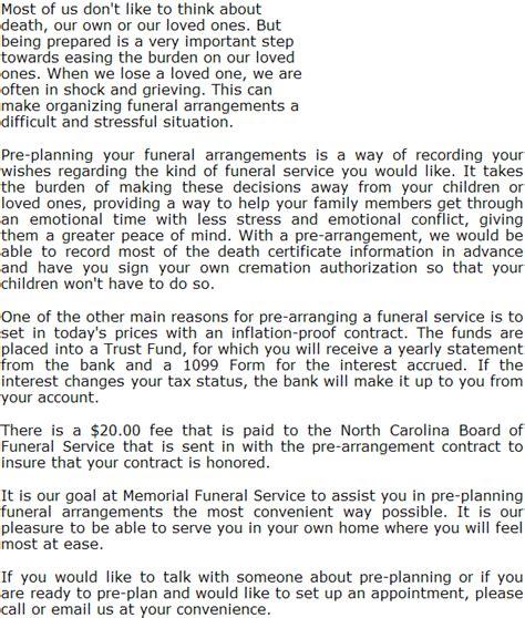 memorial plan funeral home pre plan