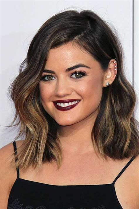 lob haircut dark wavy hair 20 long bob dark hair bob hairstyles 2017 short