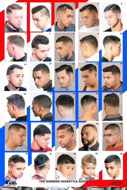 mens haircuts chart the barber hairstyle guide hair
