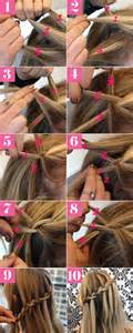 Diy pretty waterfall braid hair tutorial pictures photos and images
