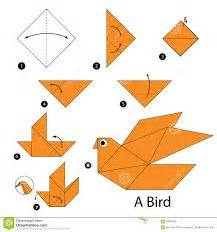 How To Make A Paper Bird Step By Step - oltre 1000 idee su istruzioni origami su