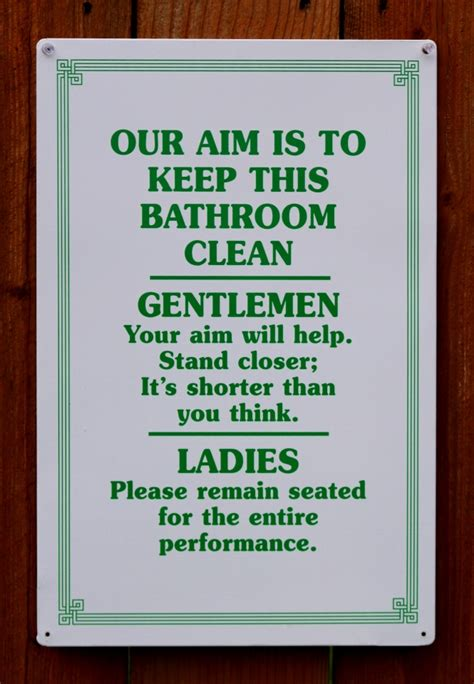 funny bathroom signs for home our aim bathroom clean tin sign humor funny home bar dorm