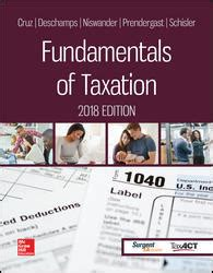 fundamentals of taxation 2018 ed 11e books fundamentals of taxation 2018 ed 11e
