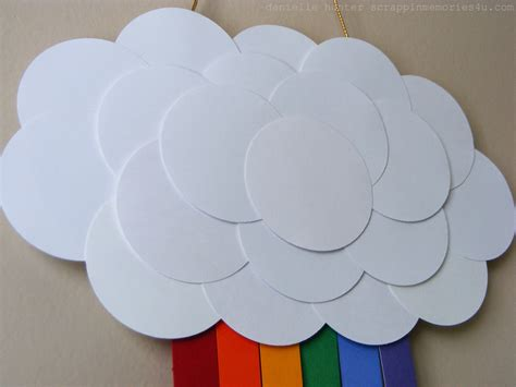 How To Make A Paper Cloud - snap scrap tweet craft idea paper rainbow for