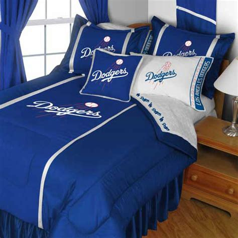 mlb la dodgers bedding set los angeles comforter sheets