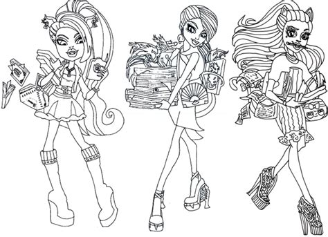 all monster high coloring pages