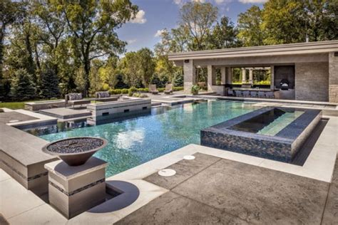 modern home design with pool modern pool designs barrington pools