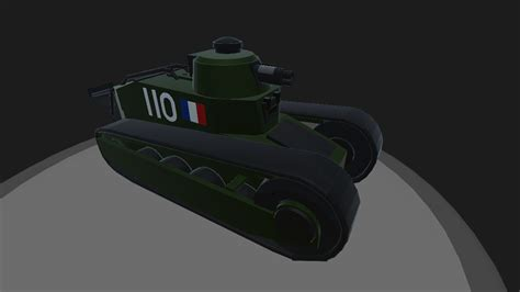 Simpleplanes Renault F1 Light Tank Working Cannons