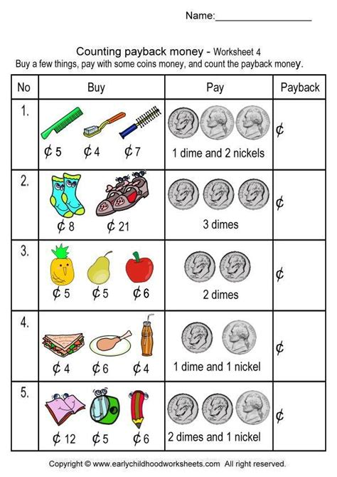 can you make money counting cards free printable money worksheets money 5 4 101 printables