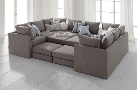 sofa pit dr pitt slipcovered sectional contemporary sectional
