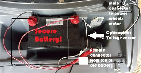 battery power wire how to upgrade a power wheels battery longer lasting