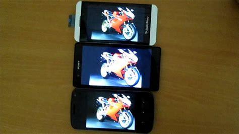Tv Samsung Layar Cekung Perbandingan Layar Blackberry Z10 Sony Xperia Z Dan Samsung Galaxy Nexus