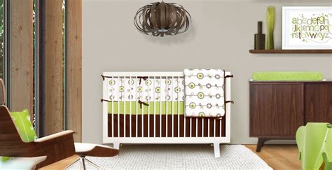 Green And Brown Crib Bedding Olli Lime George Collection Modern Nursery Crib Bedding In Lime Green And Brown For The