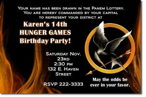 printable hunger games birthday invitations hunger games birthday invitations by uprintinvitations on